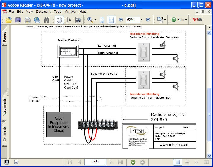 whole house speaker wiring diagram
